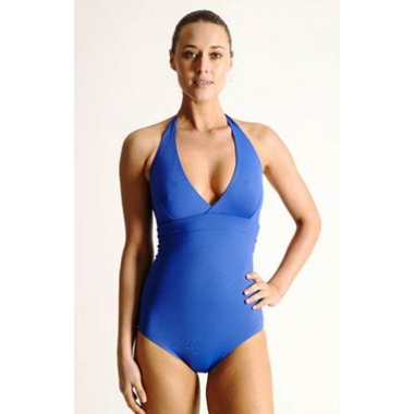 Reversible B/C Halter Swimsuit - Cobalt & Blue