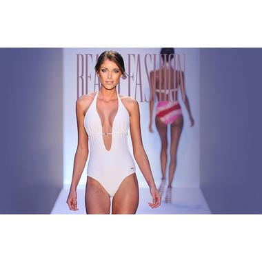 White Monokini Brazilian