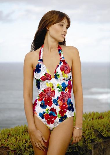 Monet D/DD Floral Print Swimsuit