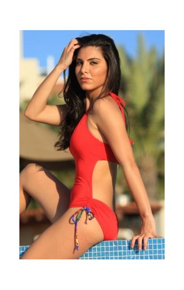 Ruby Red Slider Swimsuit