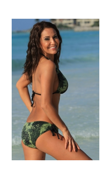 camoflauge bikini back