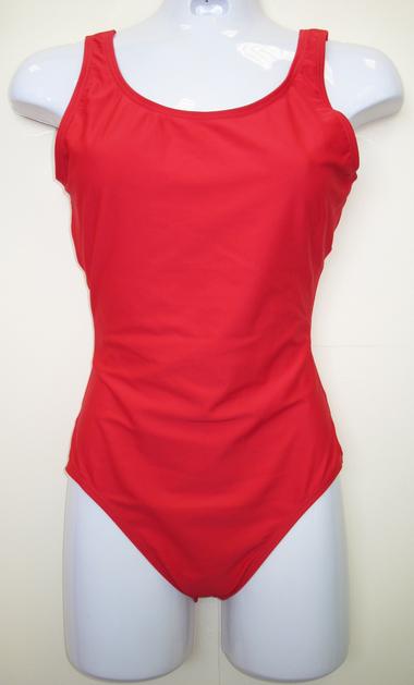 plain red swimsuit