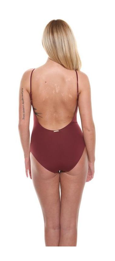 CK Maroon Swimsuit