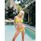neon yellow string bikini