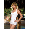 White Halter Cover Up Dress