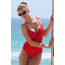 Red Slimming Swimsuit