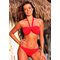 red twist bikini