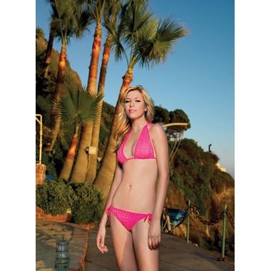 neon rhinestone bikini