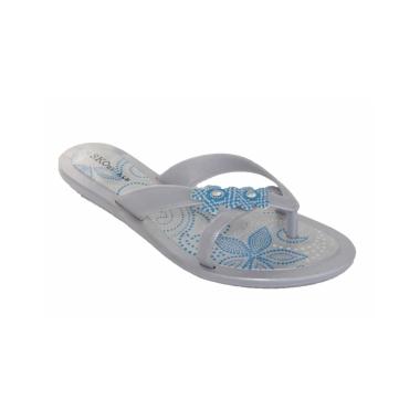 Blue/Silver Flip Flop
