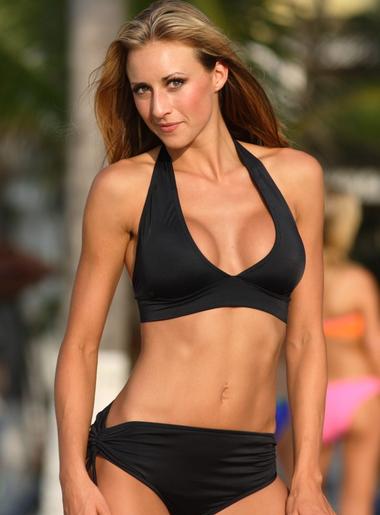 banded black bikini