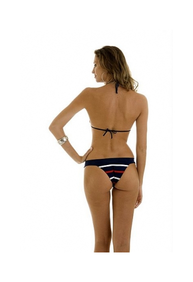 nautical striped bikini back
