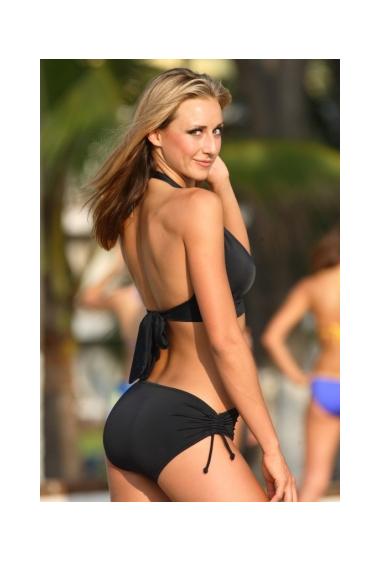 banded black bikini back