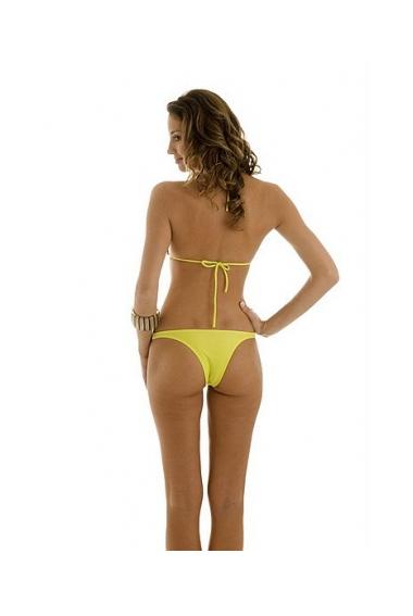 gold clasp bikini yellow back