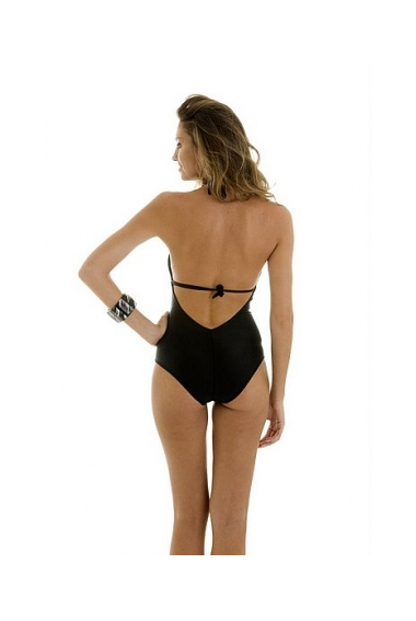 ruched knot swimsuit back