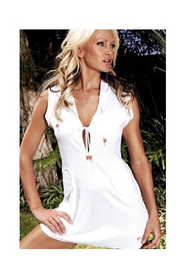 white towel dress