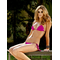 Pink Velour Tassel Bikini